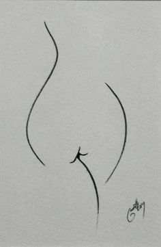 'Leaf' by Lucas Gaudette - Dunway Enterprises Minimalist Drawing, Minimalist Art, Figure Sketching, Figure Drawing, Life Drawing, Painting & Drawing, Art Sketches, Art Drawings, Aquarell Tattoos