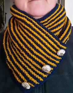 gestrickter Schalkragen, einfacher Loop von StrickshopKreationen auf Etsy Etsy, Accessories, Fashion, Blue Yellow, Scarf Knit, Stripes, Moda, La Mode, Fasion