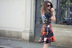 abito neoprene stampa floreale outfit primavera 2014 fashion blogger