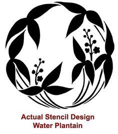 Reusable Stencil Water Plantain SM Easy por CuttingEdgeStencils