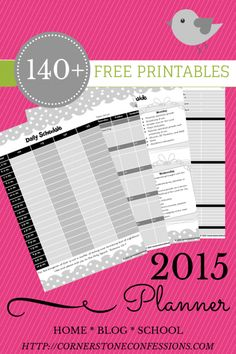 FREE 2015 #Planner with over 140 #printables! created by Cornerstone Confessions