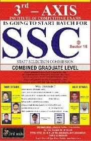 If you looking for Coaching for SSC CGL,Bank PO or any other Competitive Exam join Third Axis.Many Competitive Exam will held next year so be prepare yourself.