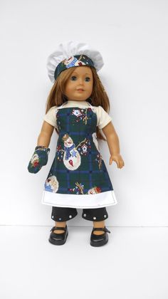 American Girl Doll Clothes Apron Chef's Hat Oven by DonnaDesigned