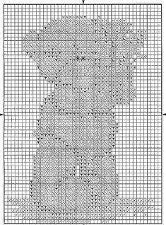 Schema punto croce Vaso Fiori Rosa 2
