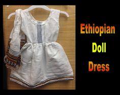 Ethiopia Doll Dress Dress 10a and 10b by CCIWorld on Etsy, $8.00  #adoption #internationaladoption #dollclothes #orphans #ethiopiandresses