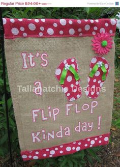 Summer Garden Flag Flip Flop Garden Flag by TallahatchieDesigns, $19.20