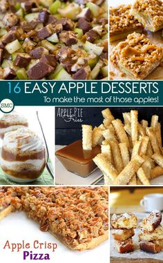 These easy apple desserts look delicious - so many great ways to use up those apples! Click on the image to see them all.