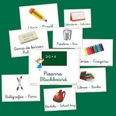 Bits de inteligencia, para aprender vocabulario básico en castellano e inglés. El colegio