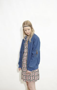 Denim Bomber Jacket Blue  http://www.thewhitepepper.com/collections/new-in/products/denim-bomber-jacket-blue-1
