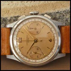 40's Bovet Frères & Cie Chronographe Suisse Vintage Watch 17j HW Landeron Cal 51 | eBay