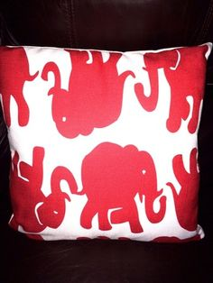 Elephant print pillow
