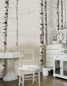 Tella Peel And Stick Murals Volume 1 By 4Walls Vignette_8938. Birch Tree  MuralTree Wall ...