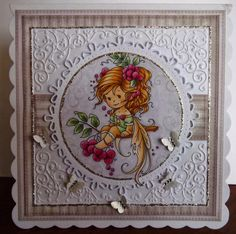 ink'n'rubba: Wee Stamps Rowan Fairy for Crafty Cardmakers blog challenge
