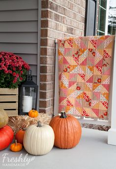 Freshly Handmade: Autumn Inspired Baby Quilt: Finished