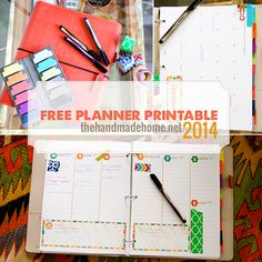 Free 2014 Planner Printable Set This Calendar from 'The Handmade Home' website is fantastic I am going to make one for all of my friends Free Printable Calendar, Printable Planner, Planner Stickers, Free Printables, Free Planner, Planner Pages, 2016 Planner, Binder Planner, Budget Binder