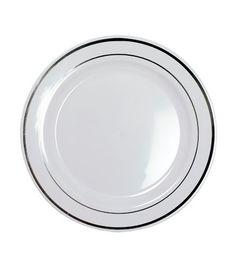 """200 jetables blanc 9 /""""assiettes en plastique parti ware léger de haute qualité"""