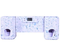 Bathroom accessories Products Clock Automatic Toothpaste Dispenser +Toothbrush Holder Set Wall Mount Rack Bath Oral