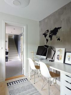 collection of design ideas small home Office scandinavian unconditionally modern, accepted and comfortable. good to enactment doing deeds Office Workspace, Home Office Design, Home Staging, House Doctor, Smart Home, Side Chairs, Interior Design, Decoration, Home Decor