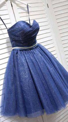 Navy Blue Homecoming Dress, Blue Bridesmaid Dresses Short, Strapless Homecoming Dresses, High Low Prom Dresses, Affordable Prom Dresses, Blue Dresses, 1920s Evening Dress, Blue Lace Midi Dress, Dresses For Teens
