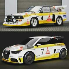 Audi rally old & new