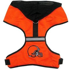 Let your furry fashionista show off his/her team spirit with an Officially Licensed Cleveland Browns NFL Dog Harness! Features include: - Vibrant team colors - Embroidered team logo - Reflective strip