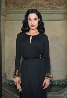 So you need a great hairstyle to take you to the good times. Imitating Dita Von Teese's irrepressible devotion to Hollywood's retro glamor is sure to… Indie Fashion, Vintage Fashion, Vintage Style, Burlesque, Dita Von Teese Style, Vintage Dresses, Nice Dresses, Weekend Hair, Hollywood Glamour