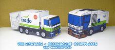 Ninjatoes' papercraft weblog: IRADO vuilniswagen + veegmachine bouwplaten!