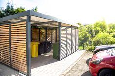 Einhausung, Stellplatz für Mülltonnen und Fahrräder