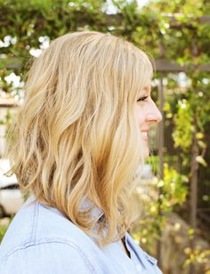 If I did a long angled bob I would sure hope my wavy hair wouldn't hijack the cut. This actually looks nice.