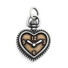 James Avery Sterling Silver Double Heart Lié Collier