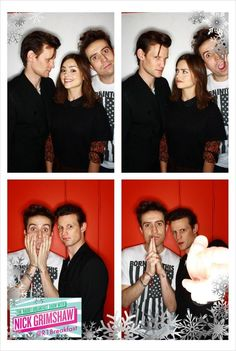 Grimmy, Matt Smith, and Jenna-Louise Coleman in instagrim