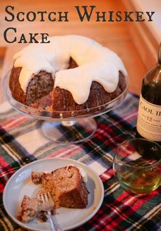 Delicious Scotch Whiskey cake recipe from England! See more recipes and party… Scottish Desserts, Scottish Dishes, Scottish Recipes, Irish Recipes, Sweet Recipes, Cake Recipes, Dessert Recipes, British Food Recipes, Recipe From England