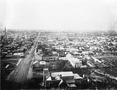 Collingwood and Abbotsford in Victoria looking north from the Town Hall in 1887. •Collingwood Library•