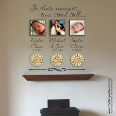 What moments stood still in your life? This SimpleStencil wall display makes sharing the special moments easy and beautiful! Custom design your special moments at www.TheSimpleStencil.com