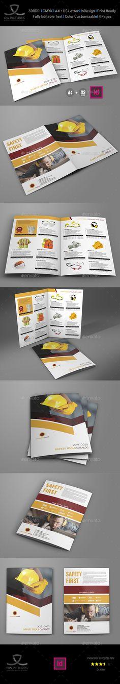 Safety Tools Catalog #Bi-Fold #Brochure Template - Catalogs Brochures