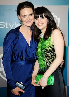 """""""Emily's four years older, which is a very vulnerable amount of years. Because when I was 3, she was 7, and she was already evil,"""" New Girl's Zooey Deschanel joked."""
