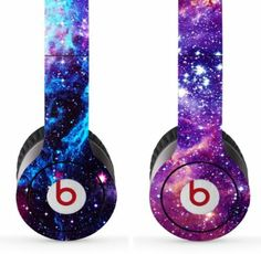 Skin Kit 2 Design Set for Solo / Solo Hd Beats By Dr. Dre - $1 Shipping! - (Headsets Not Included) - Universe