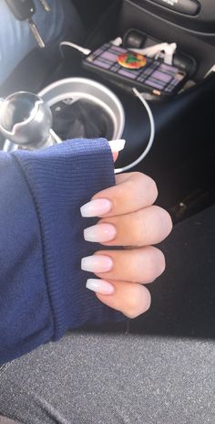stylish french fade with nude and white ombre acrylic nails # acrylic nails . - stylish French fade with nude and white ombre acrylic nails acrylic nails # … - Acrylic Nails Natural, Diy Acrylic Nails, Almond Acrylic Nails, Acrylic Nail Designs, Natural Nails, French Acrylic Nails, French Fade Nails, Faded Nails, Fun Nails