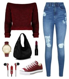 """""""# 15"""" by tonia-ro ❤ liked on Polyvore featuring Lipsy, Diophy, Komono, Smashbox, Converse and Mizco"""