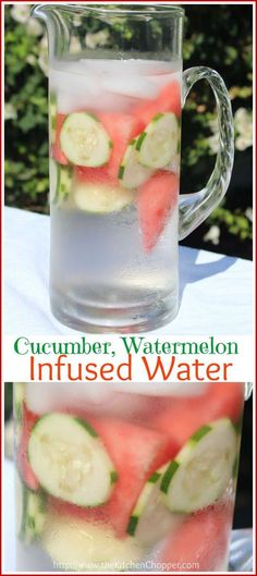 Cucumber Watermelon Infused Water - we love this drink idea for a spa-themed birthday party. How fun! Cucumber Watermelon Infused Water - we love this drink idea for a spa-themed birthday party. How fun! Detox Drinks, Healthy Drinks, Healthy Eating, Healthy Water, Healthy Detox, Detox Juices, Healthy Weight, Watermelon Infused Water, Watermelon Diet