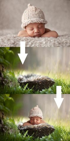 newborn outside shoot COMPOSITES