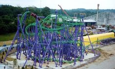Flight of Fear - Kings Island.Mason, Ohio before it was in the building in the dark. Scared Of Flying, Fear Of Flying, Six Flags America, Mason Ohio, Roller Coaster Ride, Roller Coasters, Kings Island, Amusement Park Rides, Travel Memories
