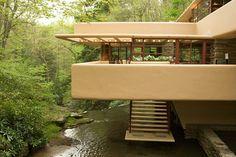 Fallinwater house by Frank Lloyd Wright. Love
