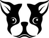 Royalty-free Vector Art: stencil of a Boston terrier dog Silhouette Chat, Machine Silhouette Portrait, Stencils, Stencil Art, Dog Stencil, Wall Decals, Vinyl Decals, Car Decal, Wall Stickers
