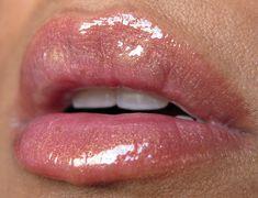 MAC Nymphette Lipgloss with Estée Lauder Tawny Lip Pencil.