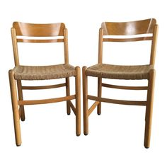 Vintage Mid-Century Modern Danish Style Dining Chairs (A pair) - Image 1 of 11