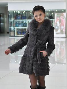 >> Click to Buy << Genuine rabbit fur coat women big size 5XL rabbit fur jacket nature fox fur collar free shipping Wholesale retail J93 #Affiliate