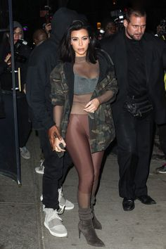 2/12/15 - Kim Kardashian en route to Adidas Originals x Kanye West YEEZY SEASON 1 Fall 2015 #NYFW
