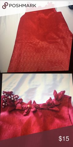 Blush by US angels red dress kids size 14 A red chiffon dress with a bedazzled collar by blush! Gently used kids size 14. Blush Dresses