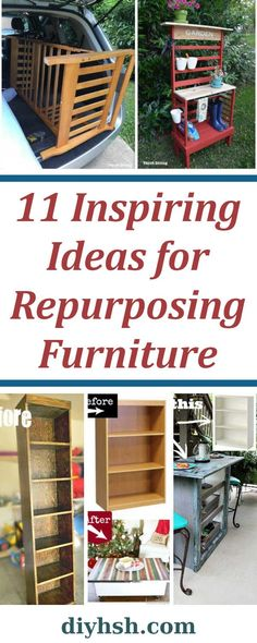11 Inspiring Ideas For Repurposing Furniture 11 Inspiring Ideas For Repurposing Furniture Inspiration For Giving New Life To Old Yard Sale And Thrift Store Furniture 11 Inspiring Ideas For Repurposing Furniture Diy Home Sweet Home Thrift Store Furniture, Diy Furniture Easy, Furniture Projects, Kitchen Furniture, Furniture Makeover, Bedroom Furniture, Furniture Movers, Unique Furniture, Office Furniture